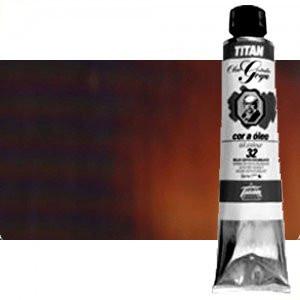 Óleo Titan Goya color tierra sombra tostada, 200 ml.
