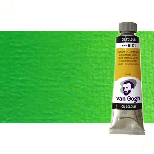 Óleo Van Gogh color verde permanente medio (60 ml)