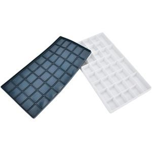 Caja paleta pintura con compartimentos y tapa silicona (16x28 cm)