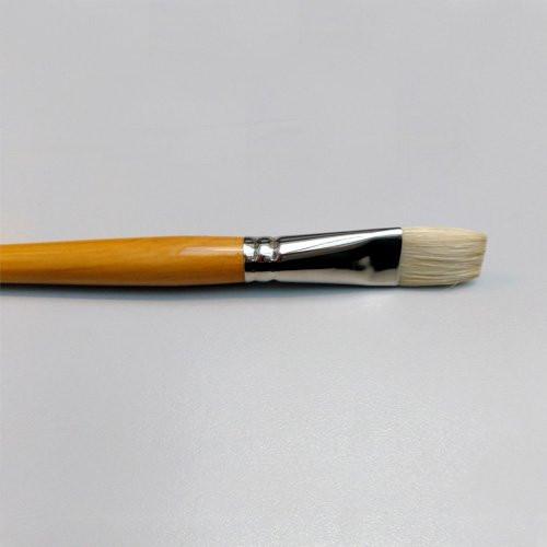 Pincel de pelo de cerda tratado plano de mango largo (nº 01)