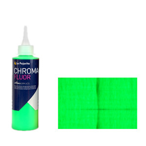 Acrílico La Pajarita Verde Chroma Fluor (200 ml.)