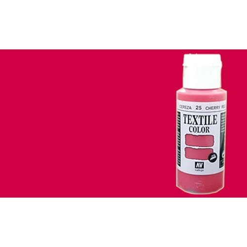 Pintura Textil Vallejo Cereza n. 25, 60 ml.