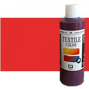 Pintura Textil Vallejo Rojo Fluo n. 510, 200 ml.