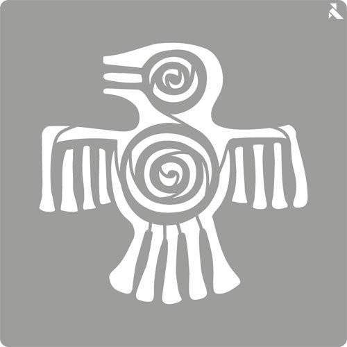 Stencil plantilla 02 Maya 20x20cm. La Pajarita