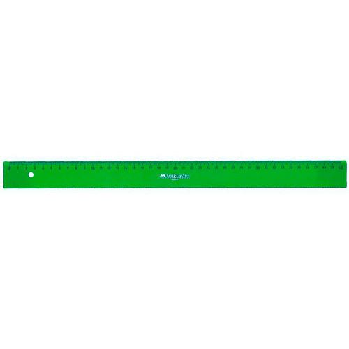 Regla graduada TÉCNICA - 814 - canto biselado 40 cm. verde Faber Castell