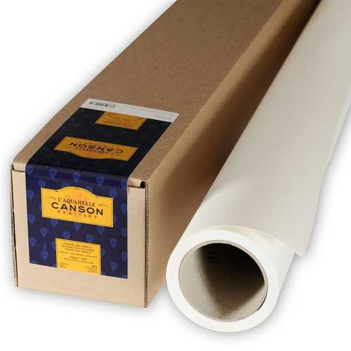 Acuarela Canson Héritage, Rollo 300 gr., 1.52x4.57 mt., Gr. fino