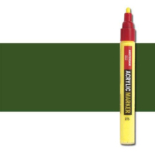 Rotulador acrilico Amsterdam color Verde Oliva Oscuro 622 (4 mm.) M