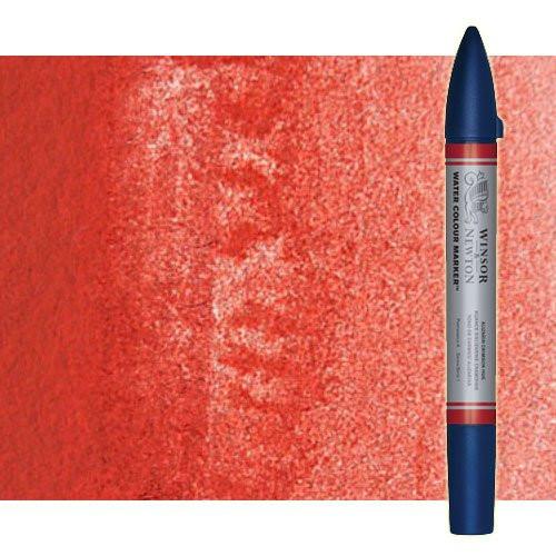 Rotulador de acuarela rojo de cadmio tono Winsor & Newton doble punta pincel