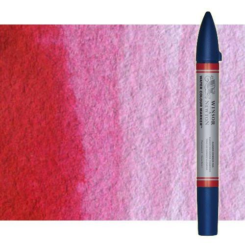 Rotulador de acuarela rosa permanente Winsor & Newton doble punta pincel