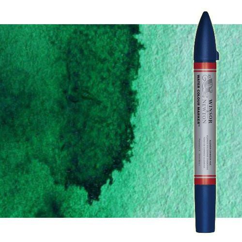 Rotulador de acuarela Verde ftalo amarillento Winsor & Newton doble punta pincel