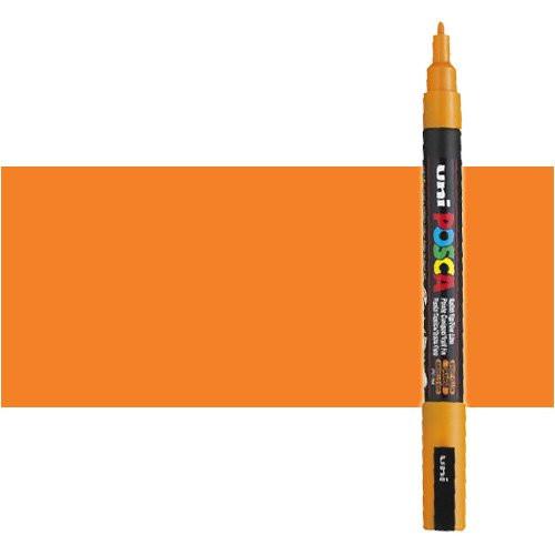 Rotulador Posca Naranja (N. 4) PC3M, punta redonda (0.9-1.3 mm.)