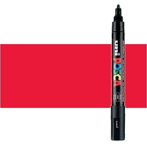 Rotulador Posca Rojo (N. 15) PC5M, punta redonda (1.8-2.5 mm.)