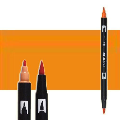 Rotulador Tombow 933 Orange doble punta pincel