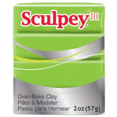 Sculpey III Verde Vainita, 56 gr.