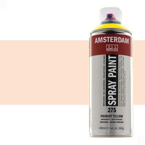 Acrílico en spray Amarillo Nápoles Rojo Claro 292 Amsterdam 400 ml.