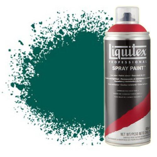 Pintura en Spray Verde esmeralda 0450, Liquitex acrílico, 400 ml.