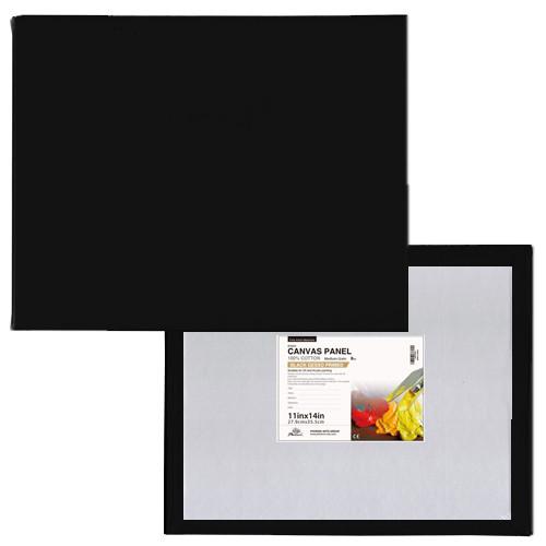 Tablilla entelada negra con preparación universal (40x40 cm)