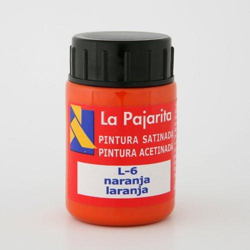 Tempera La Pajarita Naranja L-06, 35 ml.
