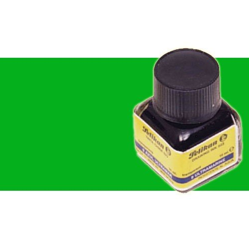 Tinta China Pelikan Verde Oscuro frasco 10 ml