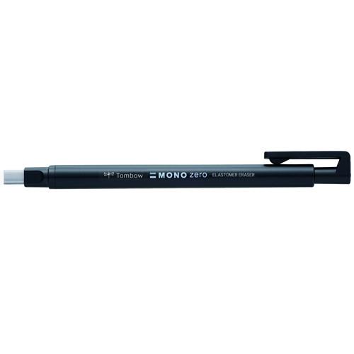 Tombow MONO ZERO Borrador de precisión, punta rectangular 2,5 x 5 mm. Cuerpo negro