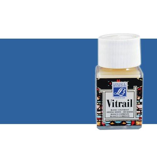 Pintura Cristal Azul intenso Vitrail Lefranc, 50 ml.-087