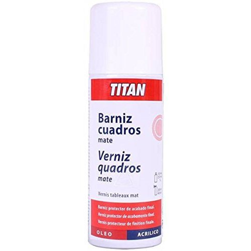 Barniz mate opal Titan en spray para cuadros (400 ml)