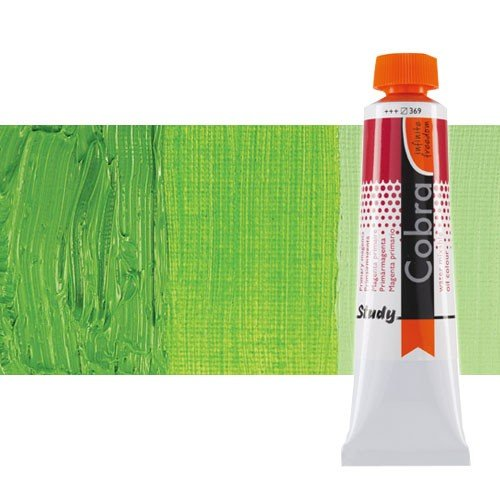 Óleo al agua Cobra Study color verde permanente claro (40 ml)