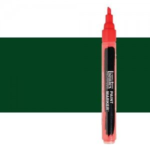 Rotulador Liquitex Paint Marker color tono verde Hooker permanente (2 mm)