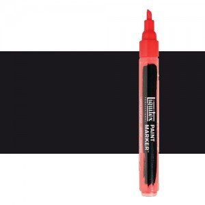Rotulador Liquitex Paint Marker color negro de carbón (2 mm)