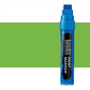 Rotulador Liquitex Paint Marker color Verde Lima Vivo (15 mm)