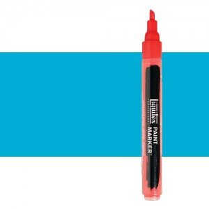 Rotulador Liquitex Paint Marker color azul claro permanente (2 mm)