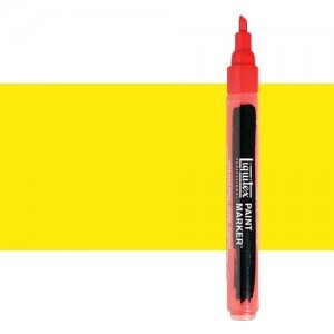 Rotulador Liquitex Paint Marker color amarillo fluorescente (2 mm)