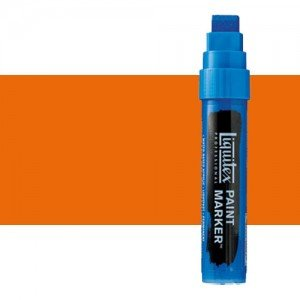 Rotulador Liquitex Paint Marker color naranja fluorescente (15 mm)