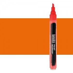 Rotulador Liquitex Paint Marker color Naranja Fluorescente (2 mm)