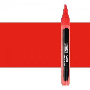Rotulador Liquitex Paint Marker color rojo fluorescente (2 mm)