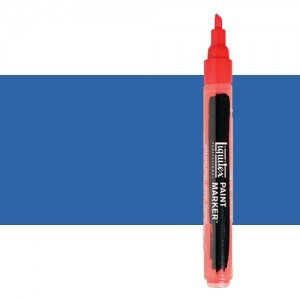 Rotulador Liquitex Paint Marker color Azul Fluorescente (2 mm)