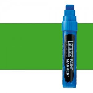 Rotulador Liquitex Paint Marker color Verde Fluorescente (15 mm)