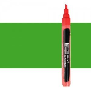 Rotulador Liquitex Paint Marker color verde fluorescente (2 mm)