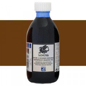 Tinta China dibujo Nan-King Marron Claro Lefranc, 250 ml.