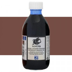 Tinta China dibujo Nan-King Sepia Lefranc, 250 ml.