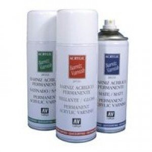 Barniz Acrilico Mate Spray Vallejo, 400 ml.