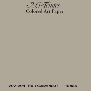 Mi-teintes Canson Gris Humo, 160 gr., 21X30 cm.