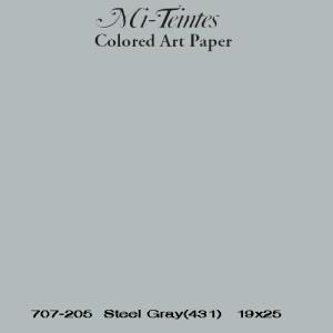 Mi-teintes Canson Gris Chine, 160 gr., 21X30 cm.