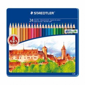 Caja metal lapices color Staedtler 24 uds.