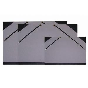 Carpeta dibujo con gomas 52x37 cm, Gris