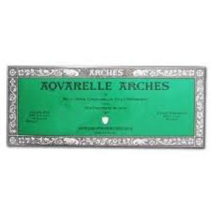 Acuarela Arches 300 gr, 10x25 cm, G. Fino, block 20 h.