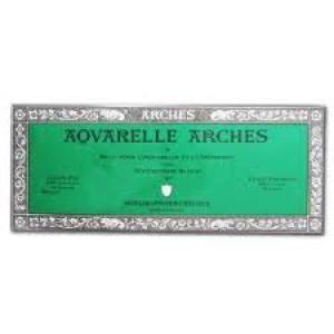 Acuarela Arches 300 gr, 15x30 cm, G. Fino, block 20 h.