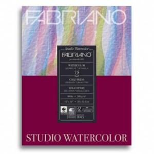 Acuarela Fabriano 200 gr, 24x32 cm, G. Fino, block 75 h.