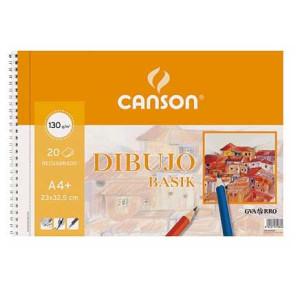 Block Dibujo BASIK Canson, 23x32.5 cm, 150 gr, 50 h