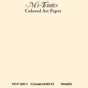 Mi-teintes Canson Crema Lichen, 160 gr., 21X30 cm.